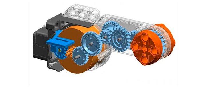 Редуктор большого мотора EV3