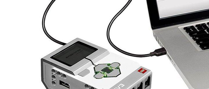 Соединение EV3 с компьютером-по USB кабелю