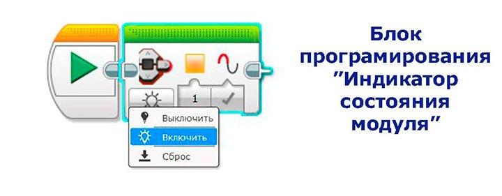 Режимы блока программирования индикатора состояния модуля