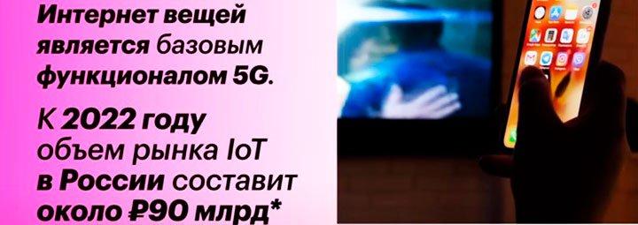 Интернет вещей с технологией 5G