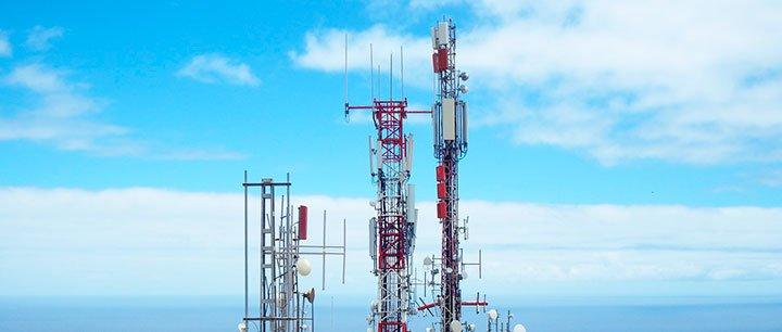 Вышки мобильной 5G связи